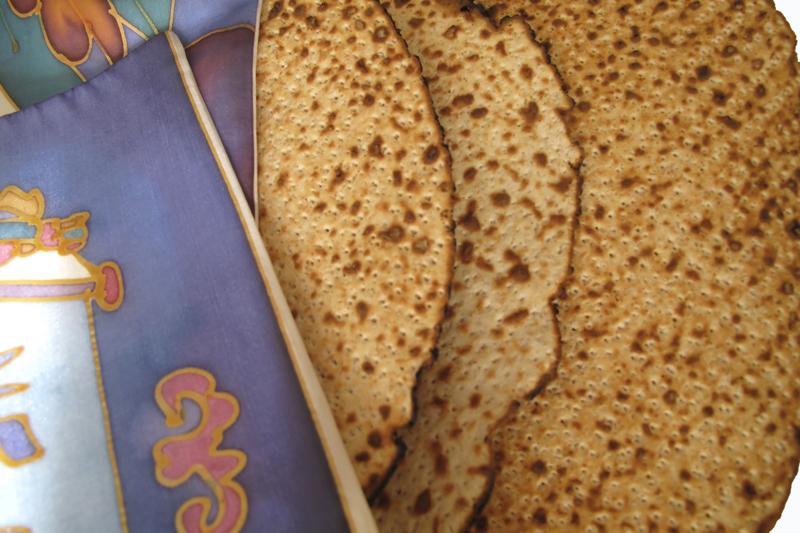 handmade matza for pesach seder