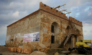 Shul in Ostroh Uraine saved from demolition.